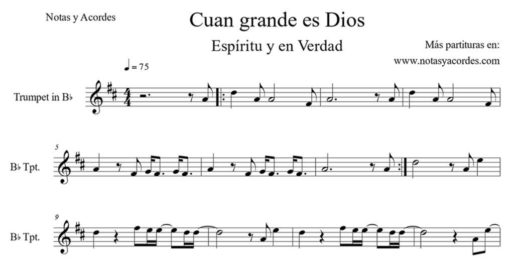 Partituras cristianas para trompeta