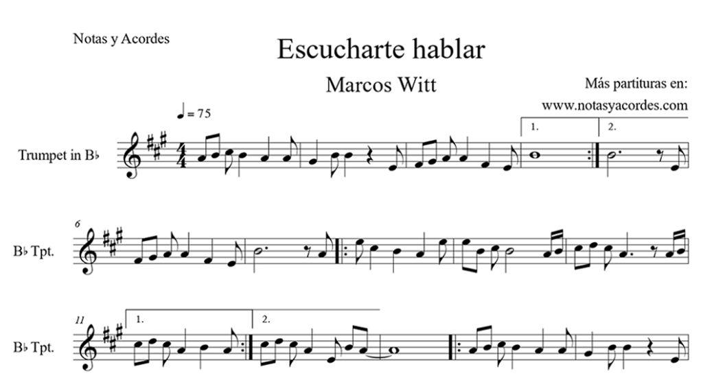 Partituras de Marcos Witt para trompeta