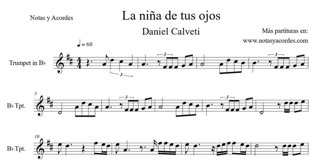 Daniel Calveti notas para trompeta