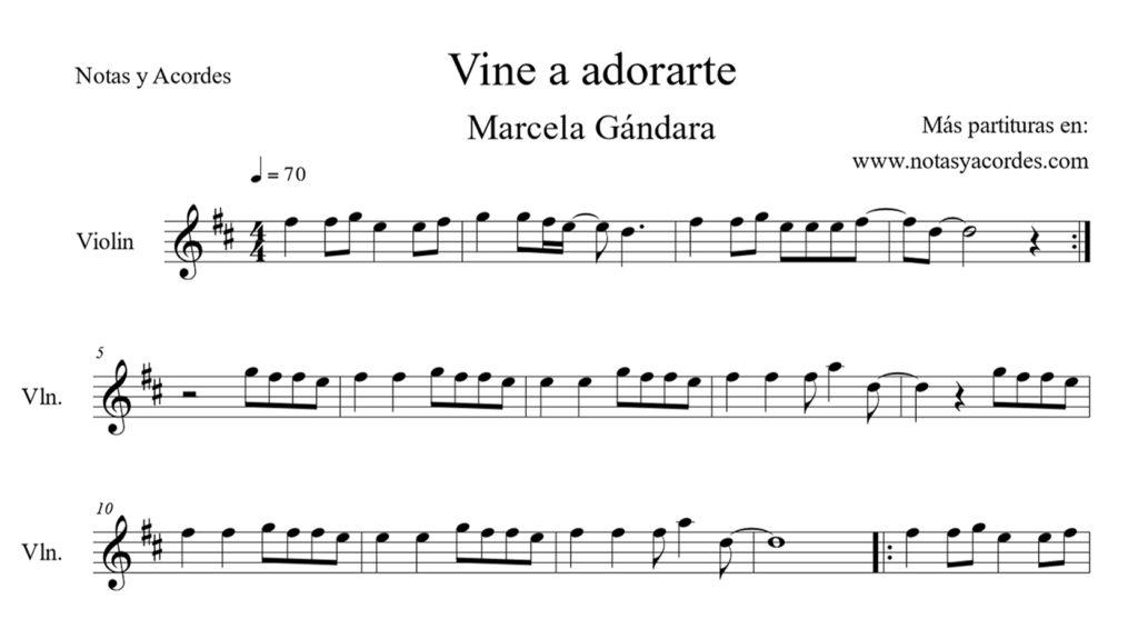 Partituras cristianas para violin