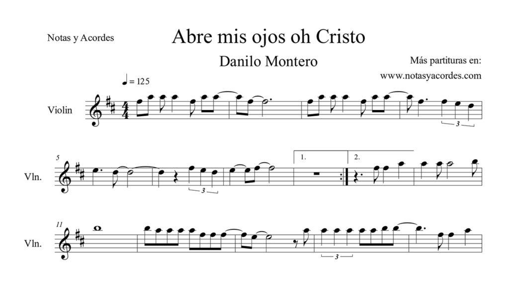 Abre mis ojos Partitura Violin